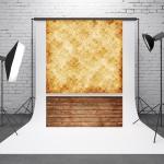 1.5m x 2.1m Pattern Vintage Wooden Board Baby Photo Background Cloth