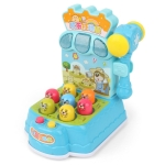 Early Childhood Education Puzzle Light Music Game Machine Joy Playing Hamster Parent-child Interactive Toy(Blue)