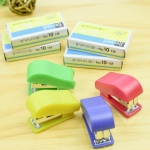 6 Sets Creative Stationery Binder No.10 Staples + Mini Stapler Set Random Color Delivery