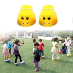 1 Pair Outdoor Plastic Balance Training Jumping Stilts Shoes for Children Walker Toy, Random Color Delivery