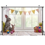 2.1m x 1.5m Easter Bunny Children Birthday Party Cartoon Photography Background Cloth(W-113)