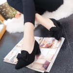 Women Shoes Pointed Bow High Heels, Size:40(Black)