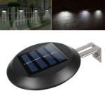 9 LEDs Outdoor Waterproof Garden Courtyard Round Solar Wall Light(Black)