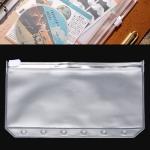 3 PCS Bill Bag Business Card Pull-edge Loose-leaf Pocket Insert PVC Zipper Storage Bag A6 M