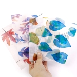 2 PCS 8 Pieces Falling Leaves Singing Beautiful Sulfuric Acid Paper Envelope Translucent Frosted Paper Bag