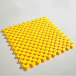 Plastic Tasteless Candy Color Splicing Bathroom Shower Mat, Size:30×30cm(Yellow)