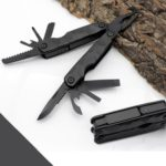 15 in 1 Outdoor Camping Survival Tool Foldable Multifunctional Pocket Plier(Black)