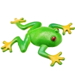 Simulation Frog Model Soft Fake Frog Creative Trick Frog