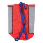 Children Beach Toys Storage Bag Play Sand Tools Storage Net Bag Backpack(Black Net Red Bottom)