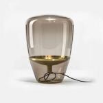 Postmodern Minimalist Creative Dining Table Retro Designer Living Room Study Glass Table Lamp, CN Plug, Size:M