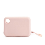 JordanJudy Traveling Silicone Cell Phone Coin Purse Zipper Storage Bag, Size:Small(Pink)