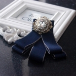 2 PCS Children Diamond Bow-knot Bow Tie Brooch Clothing Accessories(Blue)