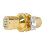 Spherical Electronic Code Door Lock Replaceable Ball Lock, Color:Gold