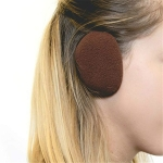 Adults Winter Bandless Warm Earmuffs Ear Protection Cover, A Pair(Brown)