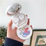 2 PCS Portable Contact Lens Case Beauty Pupil Care Box(Doodle Bear)