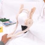 Cartoon Rabbit Ears Move Winter Warm Earmuffs Press Airbag Earmuffs, Size:One Size, Color:Rabbit Beige