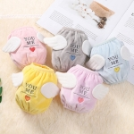 1 Pair Cartoon Stereo Love-heart Angel Shape Childen Plush Embroidered Cuffs(Color Random Delivery)