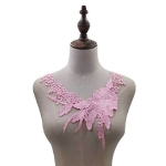 Lace Flower Embroidered Collar Fake Collar Clothing Accessories, Size: 31 x 30cm, Color:Pink