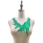 Lace Flower Embroidered Collar Fake Collar Clothing Accessories, Size: 31 x 30cm, Color:Green