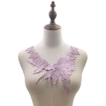 Lace Flower Embroidered Collar Fake Collar Clothing Accessories, Size: 31 x 30cm, Color:Purple