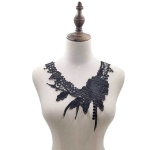 Lace Flower Embroidered Collar Fake Collar Clothing Accessories, Size: 31 x 30cm, Color:Black