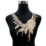 Lace Flower Embroidered Collar Fake Collar Clothing Accessories, Size: 31 x 30cm, Color:Brown