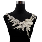 Lace Flower Embroidered Collar Fake Collar Clothing Accessories, Size: 31 x 30cm, Color:Apricot
