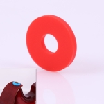 10 PCS No Word Version Silicone Guitar Strap Buckle Tail Stud(Red)