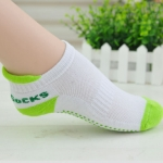 Eco-resin Non-slip Particle Yoga Socks, Size:One Size(Green)