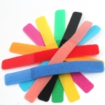10 PCS Candy-colored Power Cord Hook and Loop Fastener Strip, Random Color Delivery, Size:180 x 20mm
