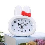3 PCS Home Daily Use Clocks Cartoon Bunny Children Creative Alarm Clock(White)