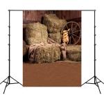 1.5m x 2.1m Straw Pile Children Photo Photography Background Cloth(11891)