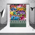 1.5m x 2.1m Retro Doodle Children's Photo Shoot Background Cloth