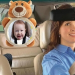 Baby Car Seat Reverse Car Rearview Mirror Pendant Plush Toy, Size:35 x 23.5 cm, Color:Brown Bear Mirror