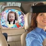Baby Car Seat Reverse Car Rearview Mirror Pendant Plush Toy, Size:35 x 23.5 cm, Color:Ocean Mirror