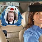Baby Car Seat Reverse Car Rearview Mirror Pendant Plush Toy, Color:Penguin Mirror