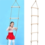 Climbing Ladder Wooden Children Sports Rope Swing Outdoor Sports Toys