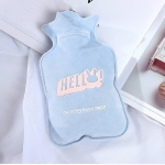Cartoon Creative Hand Warmer Water Injection Hot Water Bottle Plush Warm Water Bag(Blue Rabbit)