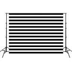 2.1m x 1.5m Black Striped Children Birthday Party Cartoon Photography Background Cloth