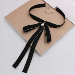 Women Wild Uniform Bow-knot Bow Tie(Black)
