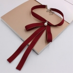 Women Wild Uniform Bow-knot Bow Tie(Red Wine)