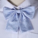 Constellation Pattern College Style Bow-knot Uniform Bow Tie(Aqua Blue)