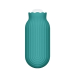 Silicone Water Filling Hot Water Bottle Bag Mini Portable Hand Warmer, Specification:Large 550ml(Green)