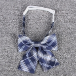 Jacquard Plaid College-style Uniform Bow Tie Necktie Clothing Accessories, Style:Collar Flower