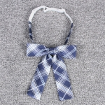 Jacquard Plaid College-style Uniform Bow Tie Necktie Clothing Accessories, Style:Bow Tie