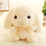 Plush Rabbit Long Ear Bunny Kids Bag Student Plush Toys Children Backpack(Light yellow)