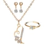 Classic Simple Rhinestone Geometric Ladies Jewelry Set(1501200C0)