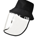 Anti-Saliva Splash Anti-Spitting Anti-Fog Anti-Oil Protective Cap Mask Removable(Black)