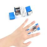 Stainless Steel Finger Exercise Finger Joint Orthosis Fracture Fixation Splint Active Straight Hand Protection Sleeve, Size:M(Blue)
