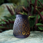 Solar Vintage Wrought Iron Hanging Lamp Outdoor Waterproof Garden Villa Decoration Pendant Lamp